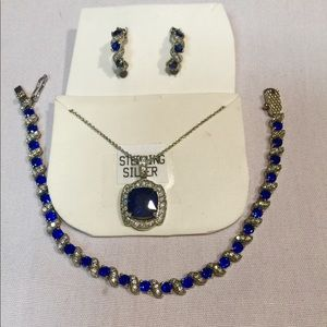 NEW STERLING ROYAL BLUE JEWELRY pd $540